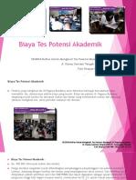 Biaya Tes Potensi Akademik Bappenas / Fast Respon / 0822-3651-2343