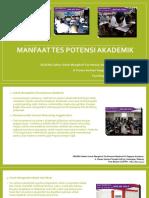 Manfaat Tes Potensial Akademik / Fast Respon / 0822-3651-2343
