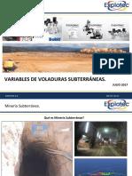 Variables de Voladura en Subterránea