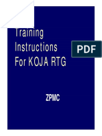 Training for KOJA RTG
