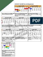Calendario 2010/2011