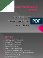 Oracle PO Setups R12