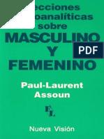 Masculino-femenino Assoun Libro