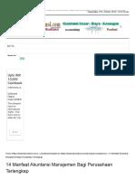 14 Manfaat Akuntansi Manajemen Bagi Perusahaan Terlengkap