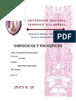 laboratorio 6 oxitocicos y tocoliticos farmacologia