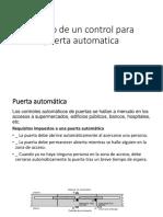 Diseño de Un Control Para Puerta Automatica