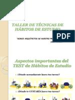 TECNICAS  Y HABITOS ESTUDIO.ppt