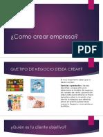 Como crear empresa_4°