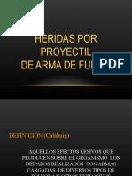 HERIDAS POR PAF