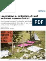 La Detención de Los Feminicidas No Frena El Asesinato de Mujeres en Ecatepec _ Internacional _ EL PAÍS