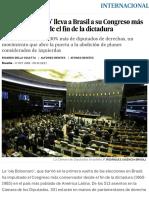 La 'Ola Bolsonaro' Lleva a Brasil a Su Congreso Más Conservador Desde El Fin de La Dictadura _ Internacional _ EL PAÍS