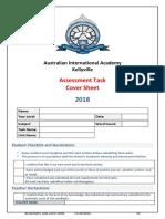 2018 assessment task cover sheet  2