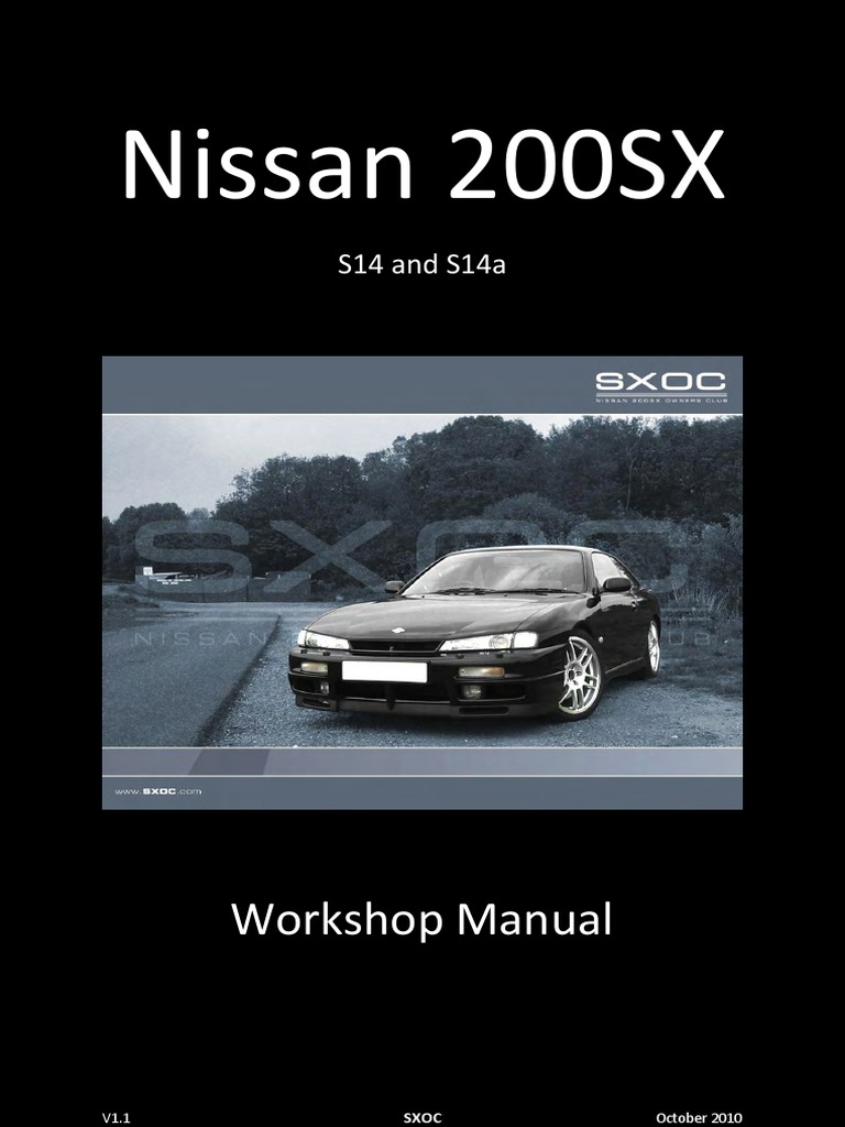 usdm nissan 240sx S14 + S14a with ka24de ka24e engines repair Manual