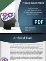 Psikologi Umum(Jenis-jenis Penelitian)