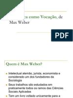 Ciência Política - seminário sobre Weber