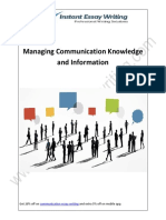 Analyzing The Factors For Managing Communication Knowledge