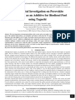 Experimental Investigation on Perovskite Nanomaterial as an Additive for Biodiesel Fuel using Taguchi