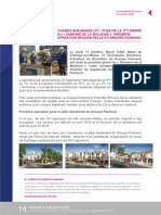 Panhard - Pose première pierre résidence Champs-sur-Marne (77) 15102018