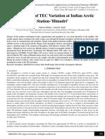 Investigation of TEC Variation at Indian Arctic Station-'Himadri'
