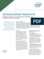 Optimizing Hadoop Deployments Rev 2.0