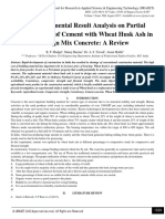 An Experimental Result Analysis on Partial Replacement of Cement with Wheat Husk Ash in Design Mix Concrete