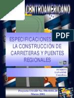 Especificaciones para la Construcción de carreteras SIECA