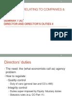 Seminar 7(a)_directors Fiduciary Duty