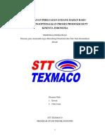 PERENCANAN PENGADAAN GUDANG BAHAN MATERIAL UNTUK MENGOPTIMALKAN PROSES PRODUKSI DI PT KINENTA INDONESIA (Autosaved).docx