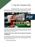 5 Cara Dapat Uang Dari Permainan Poker Online