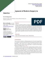 Historical Development of Modern Surgery