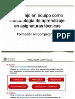 El Trabajo en Equipo Como Metodologia de Aprendizaje en Asignaturas Tecnicas Manuel Gasch