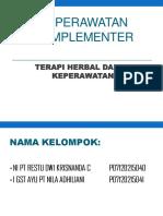 KEPERAWATAN KOMPLEMENTER