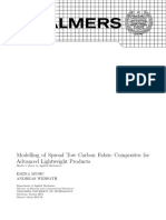 Modelling of Spread Tow Carbon Fabric Composites For
