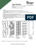 Wenger UltraStor Cabinets Specifications