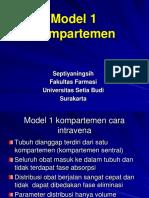 Model Kompartemen 1 Terbuka