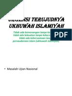 Urgensi Terujudnya Ukhuwah Islamiyah