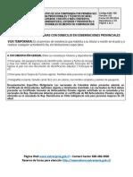 Requisitos Visa Temporaria Primera Profesionales o Técnicos GOB