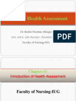 Health Assessment Chapter 1 Introduction of Health Assessment