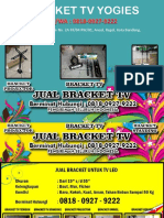 0818-0927-9222 (WA) | Harga Bracket Tv 55 Jakarta, Bracket TV Yogies