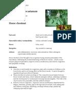 Aesculus Horse Chestnut materia medica herbs