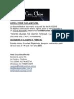 Hotel Cruz Chica Hostal 2018/2019