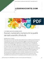 Numeri, Numerielli e Numericchi_ La Qualità Dei Dati Scientifici (Parte III) - Www.pellegrinoconte.com