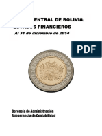 Estados Finacieros Gestion 2014