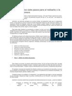 El Método de Los Siete Pasos Para El Rediseño o La Mejora de Procesos