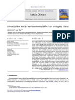 Urbanization and Its Environmental Effects in Shanghai