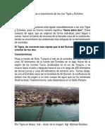 importancia de los rios tigris y eufrates