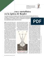 Matemáticas y Metafísica en la óptica de Kepler