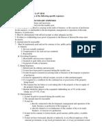 Requisites for Deductibility