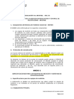 Especificaciones Tablero de Medidor Regulación-001-16