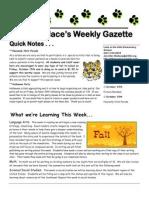 newsletter 10-12-10